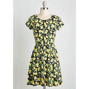 """When Life Gives you Loveliness"" Lemon Dress"
